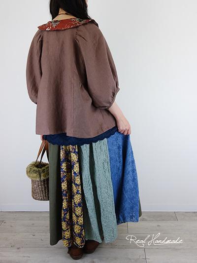 ワッシャーマトラッセレースとリバティパッチスカート
