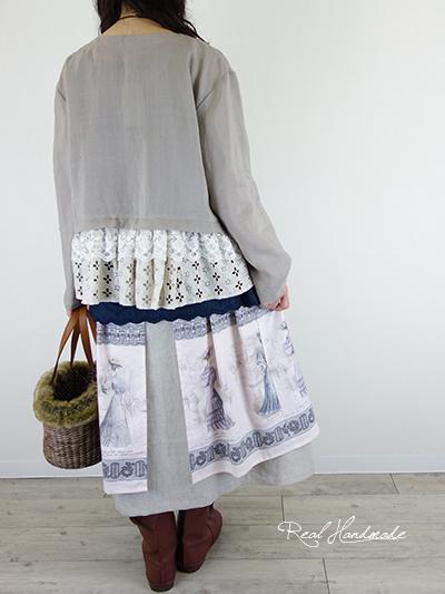 リネンと貴婦人前後OKWスカート
