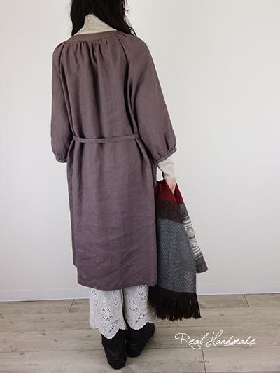 リネンスカラップ刺繍半端丈パンツ